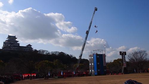 平成27年姫路市消防出初式のレスキュー演技