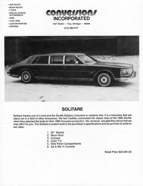 1980 Cadillac Seville Solitaire Limousine by Conversions Inc.