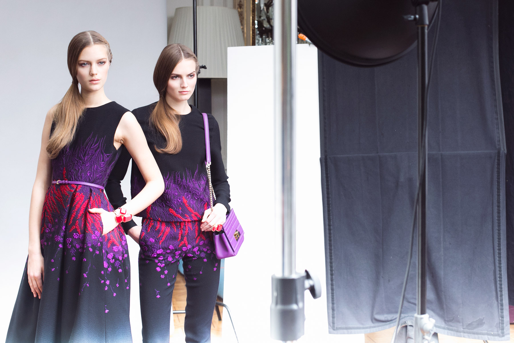 Behind the Scenes of Elie Saab Pre-Fall 2015 photo by Carin Olsson (Paris in Four Months)