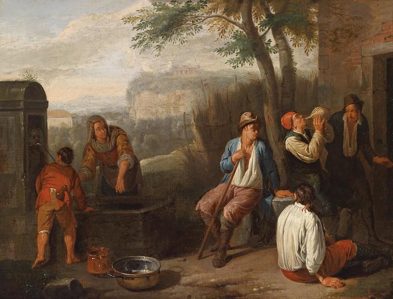 Norbert van Bloemen - Landleute am Brunnen (c.1746)