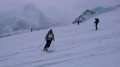 Ostatni zjazd do Zermatt. Po lewej Mattenrhorn.