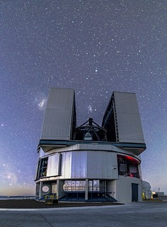 Yepun and the Magellanic clouds