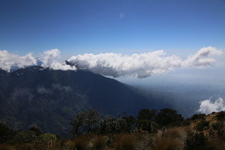View from Volcan Santa Maria.  Guatemala.