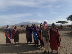 at the maasai village