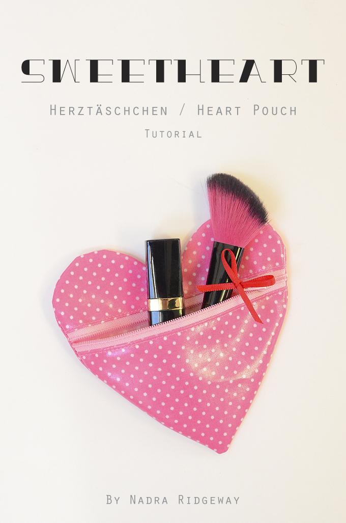 Herz Täschchen / Heart Pouch Tutorial