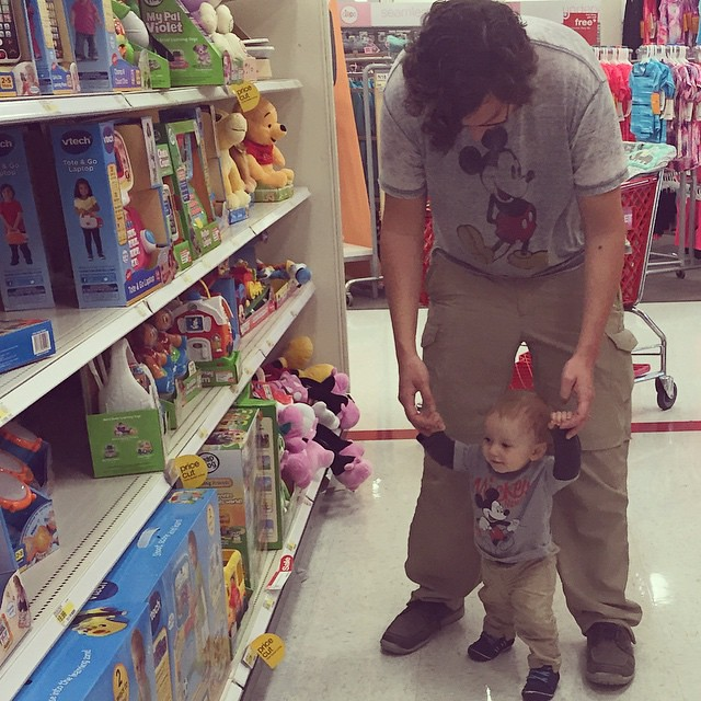 Picking out toys at Target - matching boys. by bartlewife