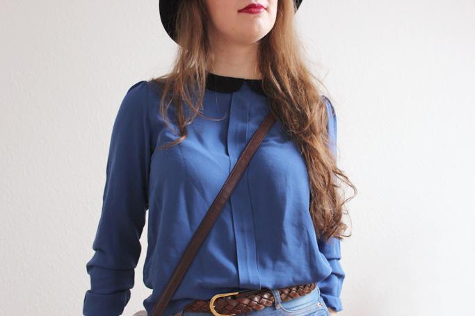 Bluse Bubikragen Zara