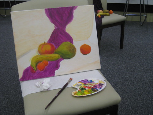 Still life with squishy fruit