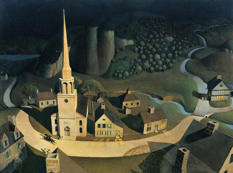 Grant Wood - The midnight rid of Paul Rever (1931)