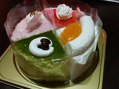 娘への機嫌取りのひな祭りケーキ