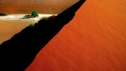 sunrise desert horizon dune namibia risingsun namibdesert