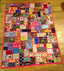 I spy tickertape twin sized quilt for a 4 year old girl