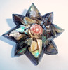 Vintage Shell Fragment Resin Star-Shaped Brooch - Mother of Pearl Chip Brooch