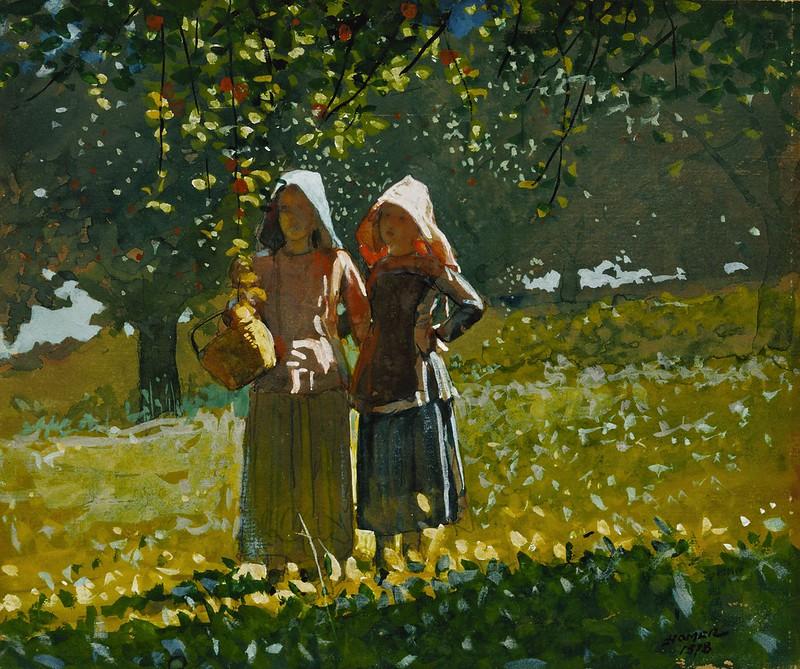 Winslow Homer - Apple Picking (1878)