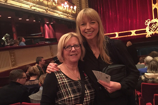 BBC Radio DJ Sara Cox with her mother Jackie Williams © Radio 2, 2015
