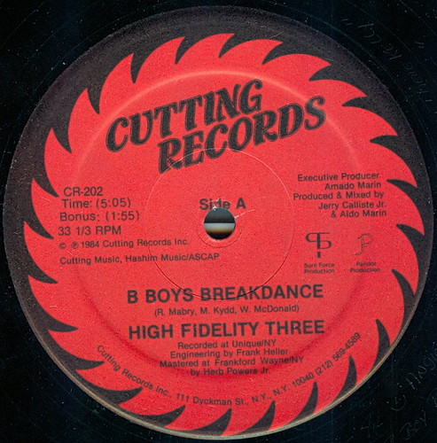 hi fidelity three b boys a