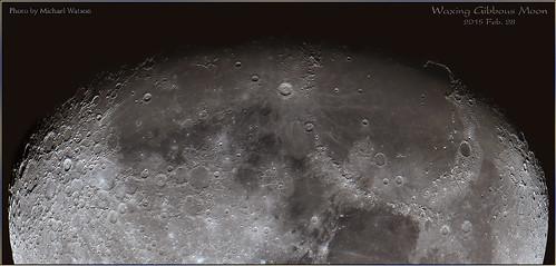 2015 Feb. 28 ~ Waxing gibbous Moon - closer view