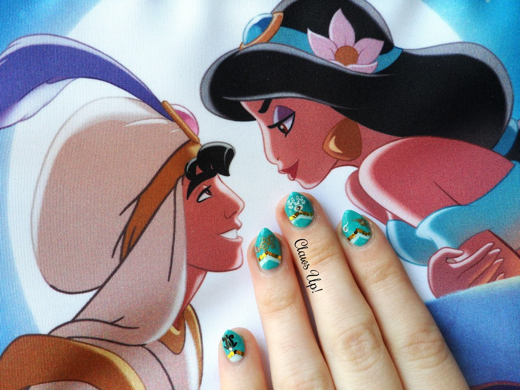Disney princess Jasmine nail art