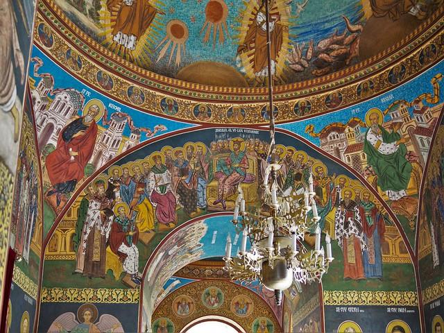 Bukarest (Rumänien), Malerei in einer orthodoxen Kirche