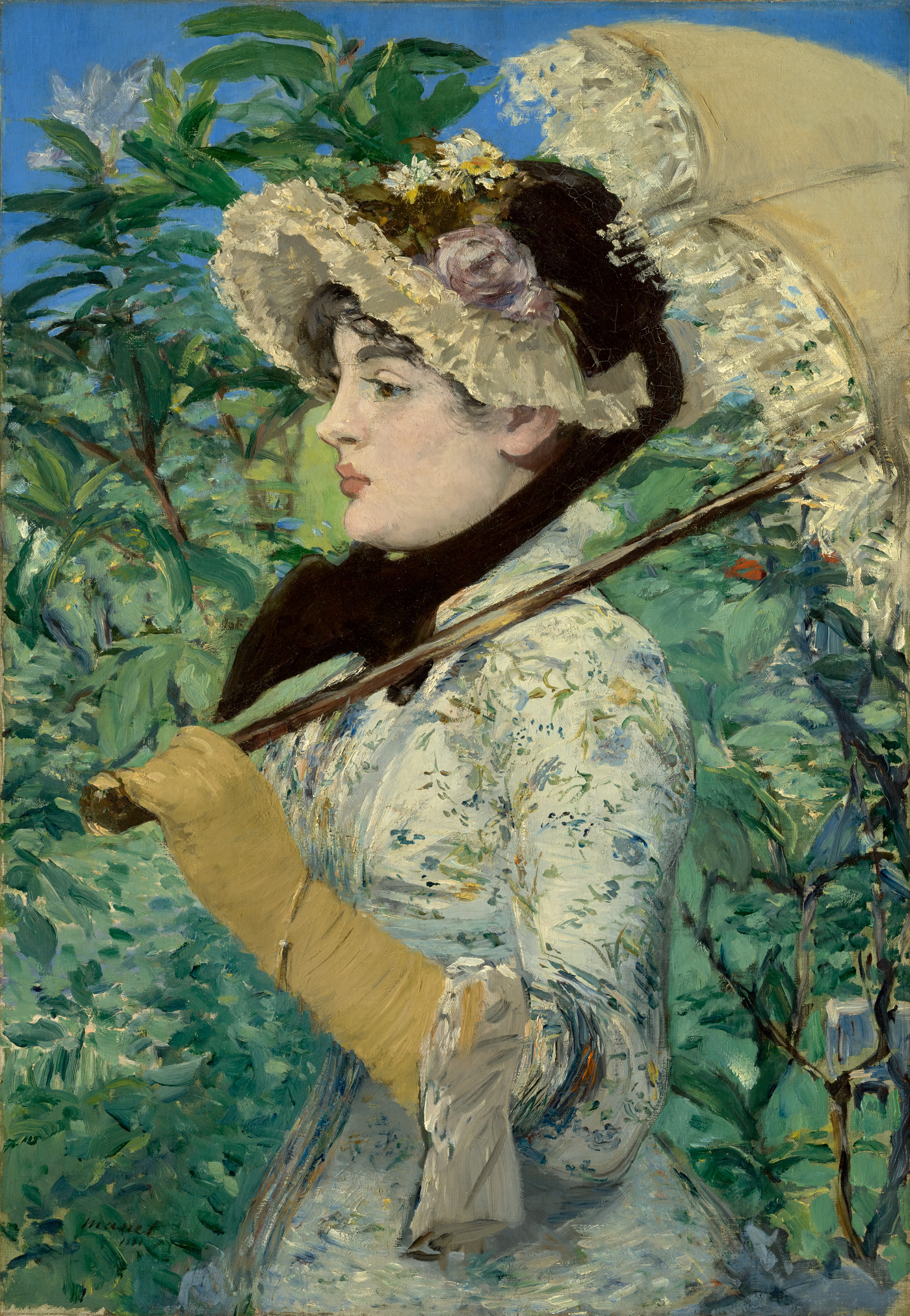 Woman with a parasol by Édouard Manet, 1881