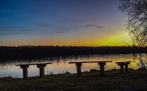 sunset sky sun lake nature water clouds lakeside iphone