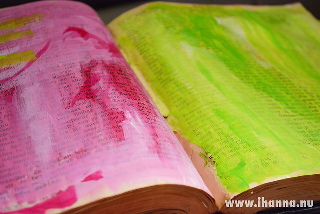 Pink and Green book pages
