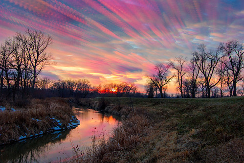 trees sunset sky reflection nature water clouds landscape timelapse twilight thaw meltingsnow winterlandscape canonefs1022mm january24 northwestindiana littlecalumetriver startrailsexe stackphotography timestack jackienovakphotography