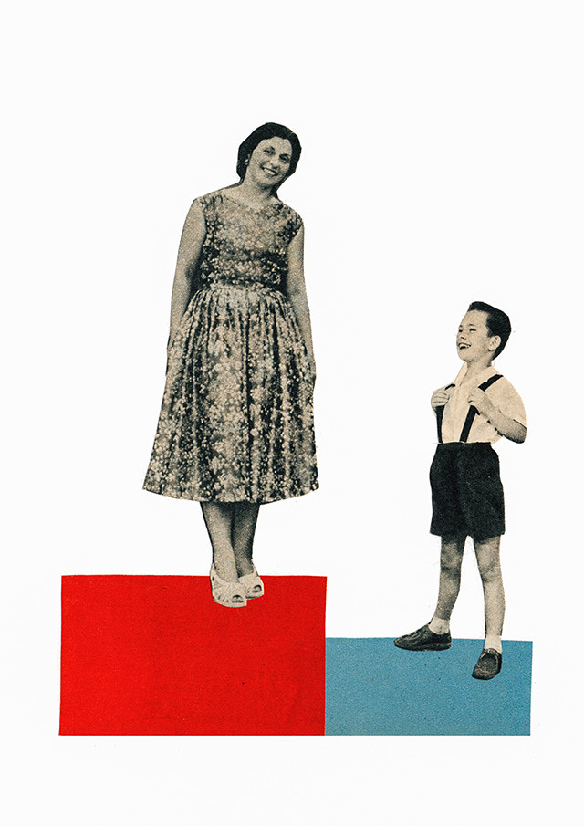 collage of an alternative family portrait by laura redburn