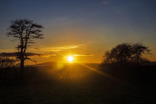 sunset scotland criffel dumfriesgalloway ecclefechan