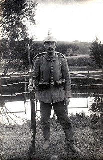 Field portrait of a Prussian Landwehrmann taken sometime in 1916