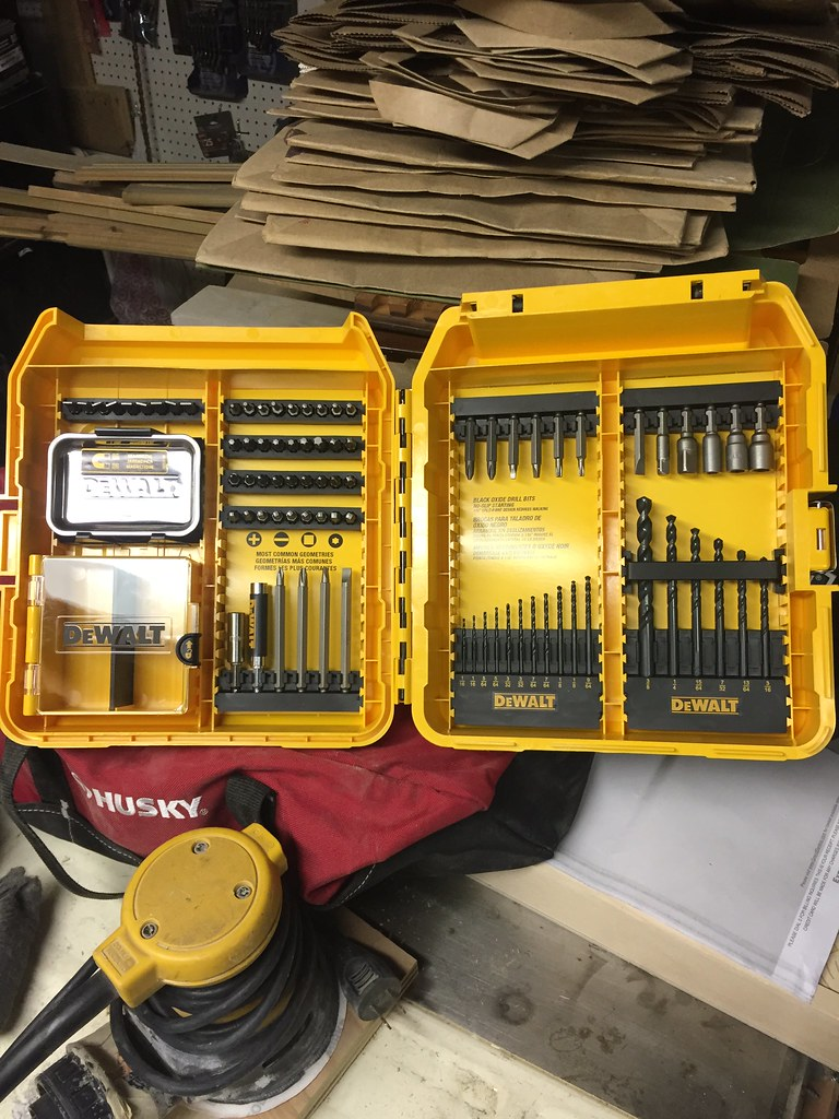 ... is this great Dewalt case of drill and driver bits a magnetic tray plastic box and organizer. I found this gem under the Christmas tree and canu0027t be ... & Llamas and Drill Bits and New Tools Oh My! - Old Town Home