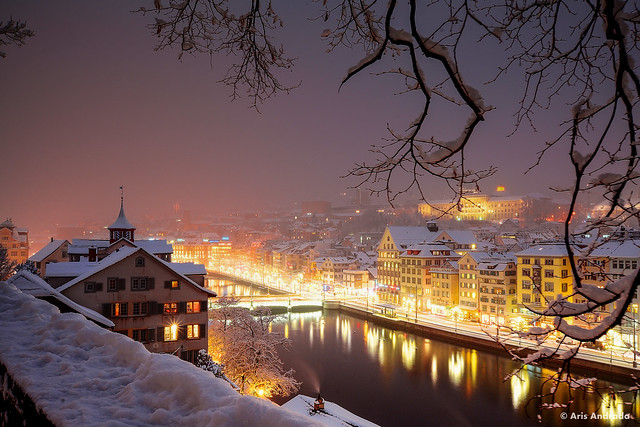 Zürich on a Winters Night
