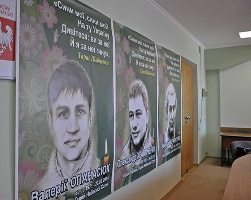 Замість Шевченка— портрети героїв