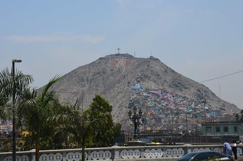Blick auf den San Cristobal von Lima.