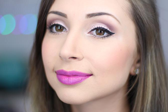 04-maquiagem fácil para festa no fim do dia sempre glamour batom lilás luminoso avon