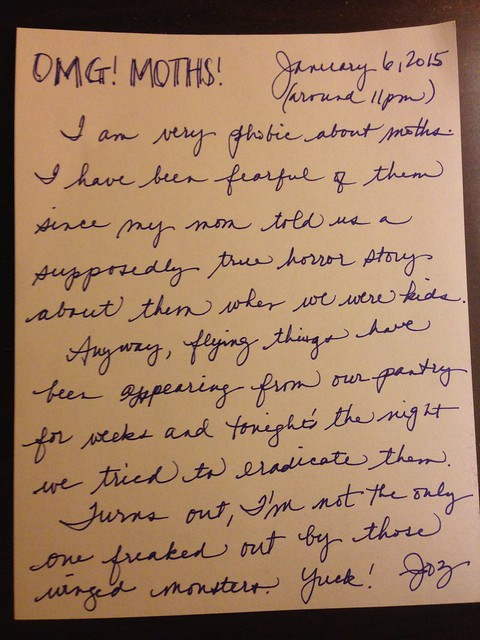PIC: Handwritten blog post for 1/6/2015.