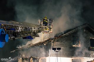 Wohnhausvollbrand 26.02.15 Trebur