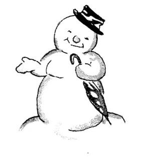 Snow man decoration