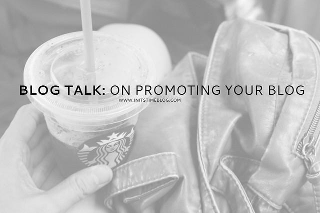 BLOGTALK on promoting your blog