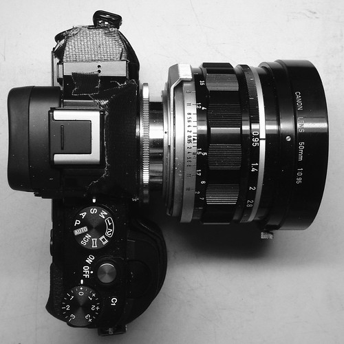 Canon50mmF0.95 + α7R + mountAdapter