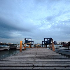 #pier #bench #clouds #weather #fishing #village #bahrain #Muharraq #coast