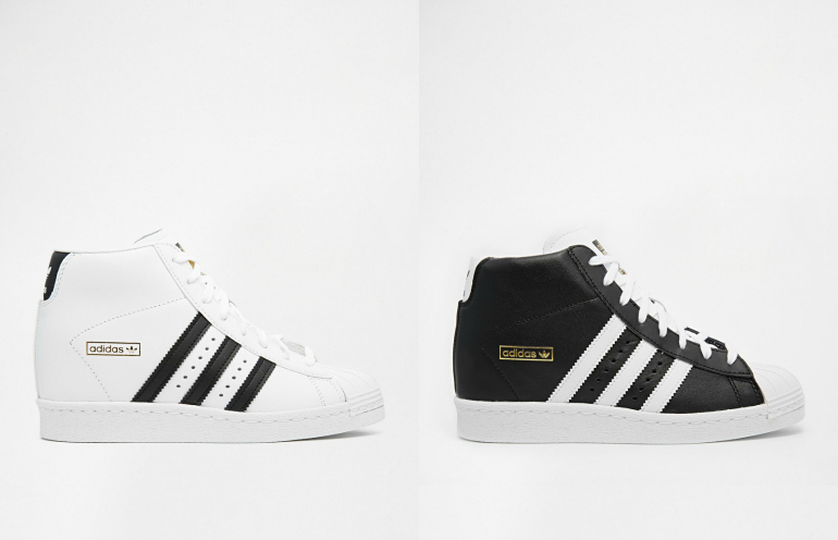 adidas superstar high top zwart