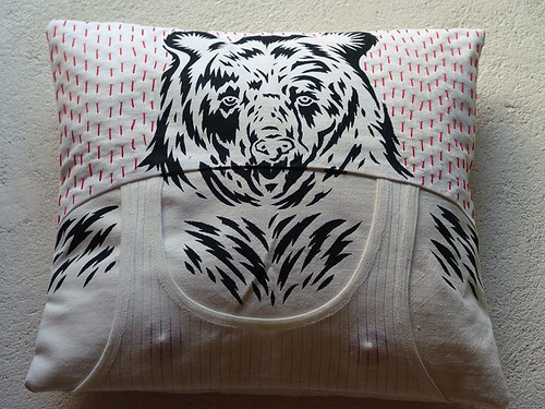 Upcycled shirt - cushions made by me