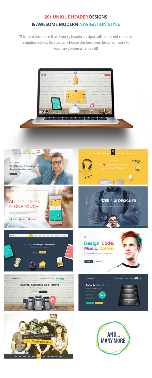 Coco - The One Page PSD