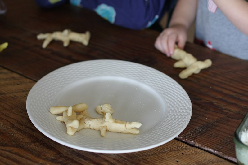 marzipan hammerhead sharks made by the children