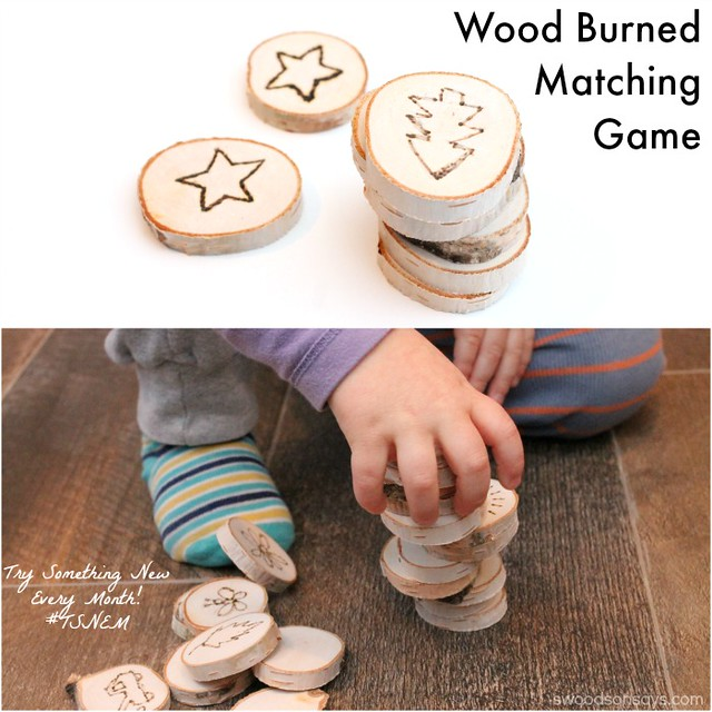 Wood Burned Matching Game