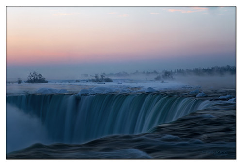 sunrise canon niagarafalls ngc niagara bluelight 6d niagaraescarpment softwater slowwater canon6d