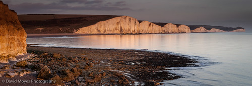 park sunset sea england cliff white sisters sussex chalk country cliffs east seven reflective downland
