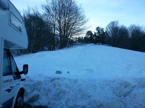 Fin de temporada de esquí de fondo. En Somport 3 días