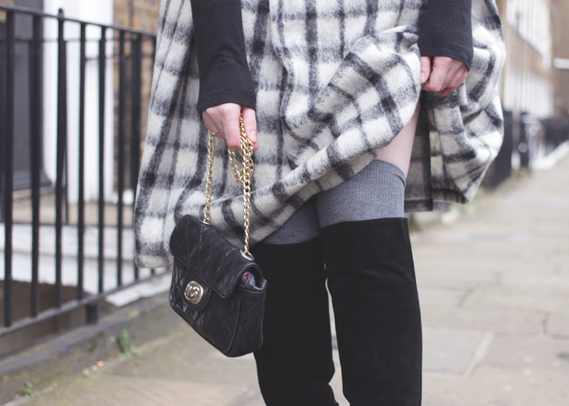 ASOS Checked Midi Skirt, Chanel Bag, Bumpkin Betty
